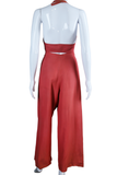 Palazzo Pants + Halter Top Set - 3 Piece Set