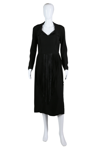 Rayon Carwash Fringe 40s Dress