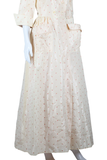 Organza Embroidered Rose House Dress - Embers / Cinders Vintage