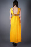 Structured Gold Beaded Waist Dress - Embers / Cinders Vintage