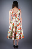 Floral Shelf Bust Dress - Embers / Cinders Vintage