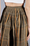Green Plaid Skirt - Embers / Cinders Vintage