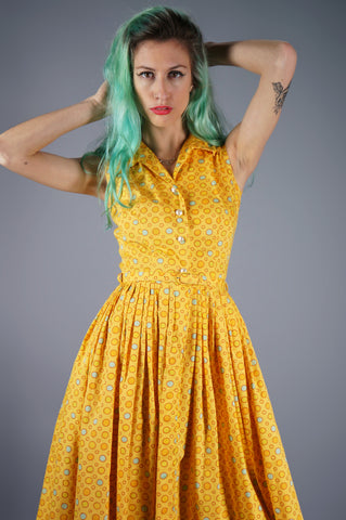 Bubble Novelty Print Dress - Embers / Cinders Vintage