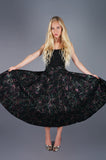 Metallic Confetti Streamer Circle Skirt