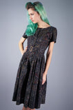 Dark Paisleys Dress - Embers / Cinders Vintage