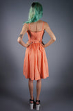 Orange Gingham Ruffle Dress with Crop Top - Embers / Cinders Vintage