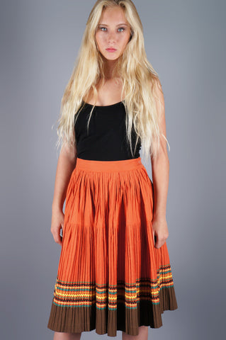 Rick Rack Deadstock Crinkle Skirt