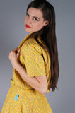 Yellow Floral Bustier Dress with Quilted Jacket - Embers / Cinders Vintage