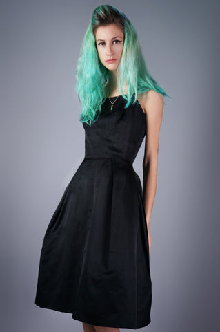 Minimalist Black Structured Dress - Embers / Cinders Vintage