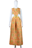 Pierre Cardin Silk Cut-Out Dress