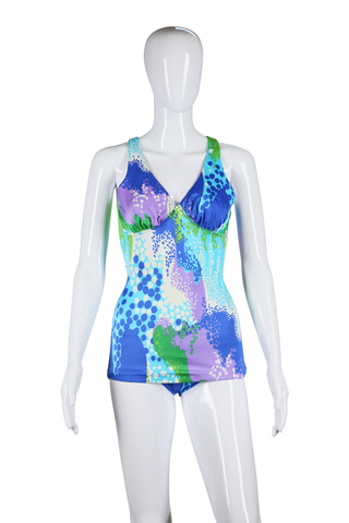 Psychedelic Print Swimsuit