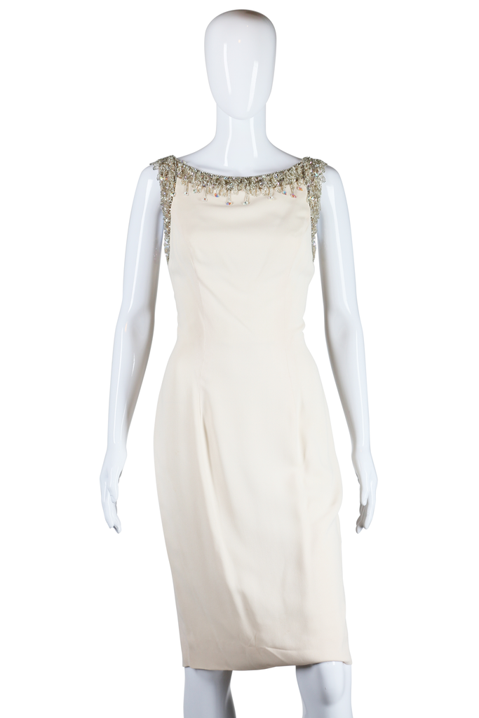Sydney North Ivory Beaded Dress - Embers / Cinders Vintage