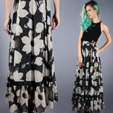 Black and White Gauze Skirt - Embers / Cinders Vintage