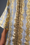 Brocade Silver and Gold Caftan Dress - Embers / Cinders Vintage
