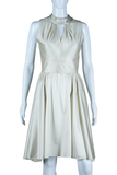 Ivory Cut-Out Neck Dress - Embers / Cinders Vintage