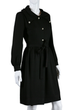 Black Mod Dress with Rhinestone Buttons - Embers / Cinders Vintage