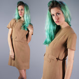 Lanz Wool Dress with Attached Belt - Embers / Cinders Vintage