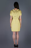Yellow Jeweled Shoulders Dress