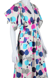 Apple Novelty Print Maxi Dress - Embers / Cinders Vintage