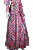 Pink Carwash Duster with Palazzo Pants and Sash Belt