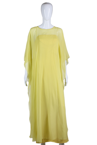 Chartreuse Maxi Dress - Embers / Cinders Vintage