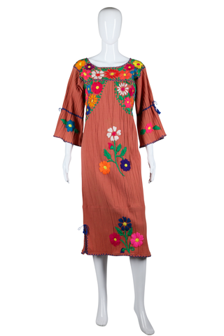 Mexican Embroidered House Dress