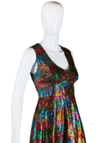 Rainbow Eyelash Tinsel Maxi Dress - Embers / Cinders Vintage