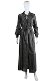 Lurex Maxi Dress with Belt - Embers / Cinders Vintage