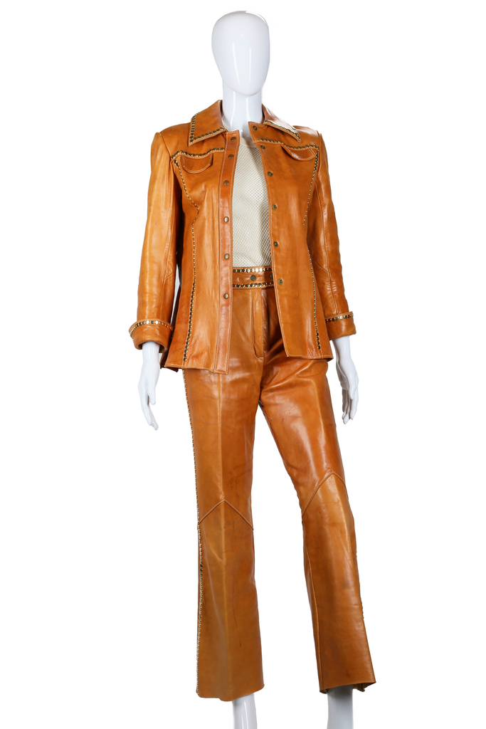 Studded Leather Suit - Embers / Cinders Vintage
