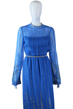 Blue Glitter Dress - Embers / Cinders Vintage