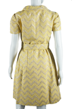 Adele Simpson Yellow and Gold Zig Zag Dress - Embers / Cinders Vintage