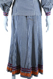 Betsey Johnson Alley Cat Plaid Two Piece Set