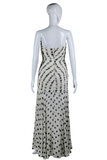 Amen Wardy Polka Dot Embellished Bust Dress - Embers / Cinders Vintage