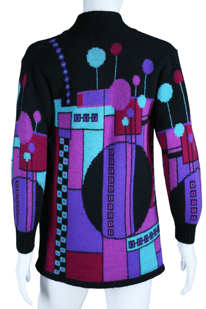 Art Deco Geometric Cardigan Sweater