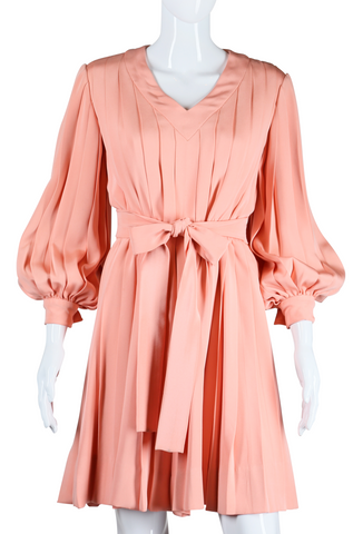 Bill Blass Pink Pleats Dress - Embers / Cinders Vintage