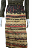 Lurex + Egyptian Revival Motif Print Dress
