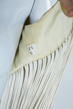 Ivory Super Long Fringe Top