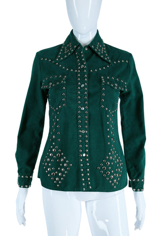 Studded Emerald Green Jacket
