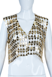 Paco Rabanne Style Triangle Shapes Vest or Top