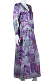 Hanae Mori Two Piece Geisha Print Dress - Embers / Cinders Vintage