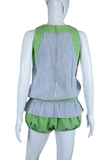 Joanna Nelson Green + Pinstripe Playsuit