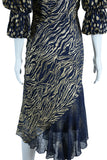 Judy Hornby Couture Midnight + Gold Dress