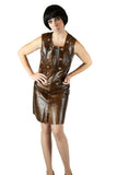 Leather Studded Grommet Mod Dress - Embers / Cinders Vintage