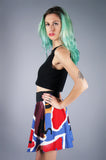 Abstract Matisse Inspired Skirt - Embers / Cinders Vintage