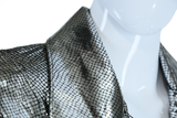 Firenze Metallic Snakeskin Silver Leather Jacket