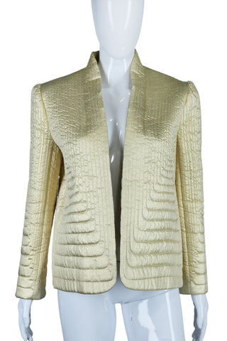Mollie Parnis Gold Quilted Jacket