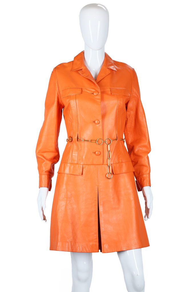 Orange Leather Beged-Or Romper - Embers / Cinders Vintage