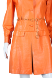 RESERVED - DO NOT BUY - Orange Leather Beged-Or Romper