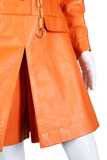 Orange Leather Beged-Or Romper