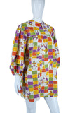 Painter's Smock Novelty Print Tunic or Micromini Dress